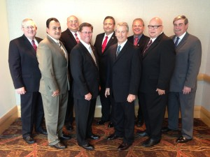 Board of Directors for 2014. L-R: Tom Adamson (Catholic Order of Foresters) Rogelio Cabral (Catholic Financial Life) Greg Felton (National Slovak Society of the USA) Elvis Anderson (Woodmen of the World) Joe Martinez (Knights of Columbus) Mark Dean (Thrivent Financial) Greg Sloan (FaithLife Financial) Jim Pearson (Woodmen of the World) Pat Barnes (Modern Woodman of America)
