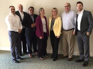 Rogelio Cabral, Past President Greg Felton, Board Member Chuck Driffill, Board Member Ruth Bash, Former Board Member Carmen Englert, New Board Member Stew Lyman, President Taylor Gilbertson, Kaplan, Inc
